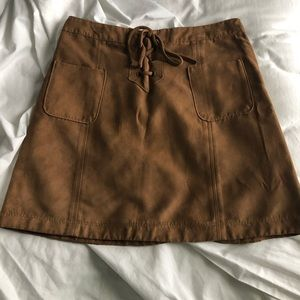 Women's Suede mini skirt